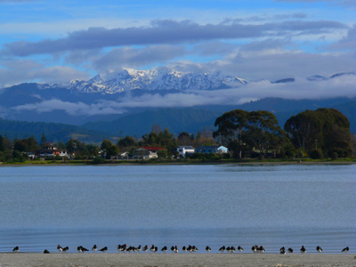 Motueka from the sandspit, image